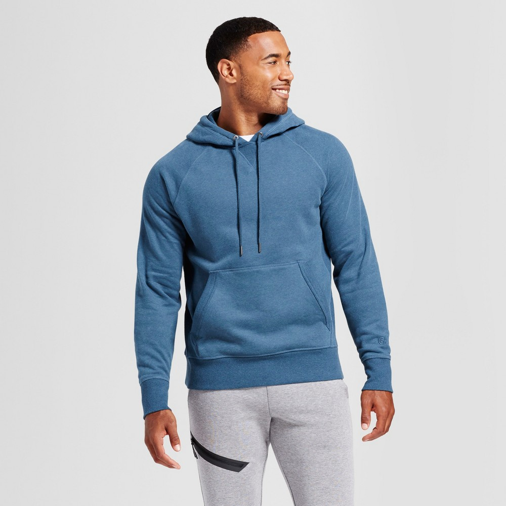 Men's Authentic Fleece Sweatshirt Pullover - C9 Champion Teal (Blue) Heather M
