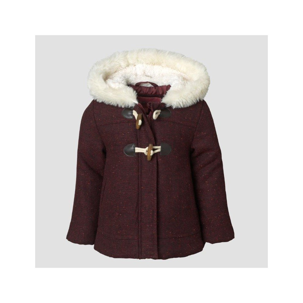 Outerwear Coats And Jackets Wippette 24 M Burgundy, Girl's, Size: 12 M, Red Find Jackets and Vests at Target.com! Keep your girl looking super stylish and snuggly with this Toggle-Front Jacket with Faux-Fur Hood from Wippette. This stylish burgundy coat with a sherpa lining and cozy faux-fur trim is just as fashionable as it is warm. Crafted from a thick material, it's comfy to wear and makes a great addition to her winter wardrobe — it even features toggle buttons at the front for extra sweetness. The long sleeves with a full-length hidden zipper give this style a cozy touch, while offering extra warmth to keep the cold air out. Size: 12 M. Color: Red. Gender: Female. Age Group: Kids. Pattern: Solid. Material: Polyester.