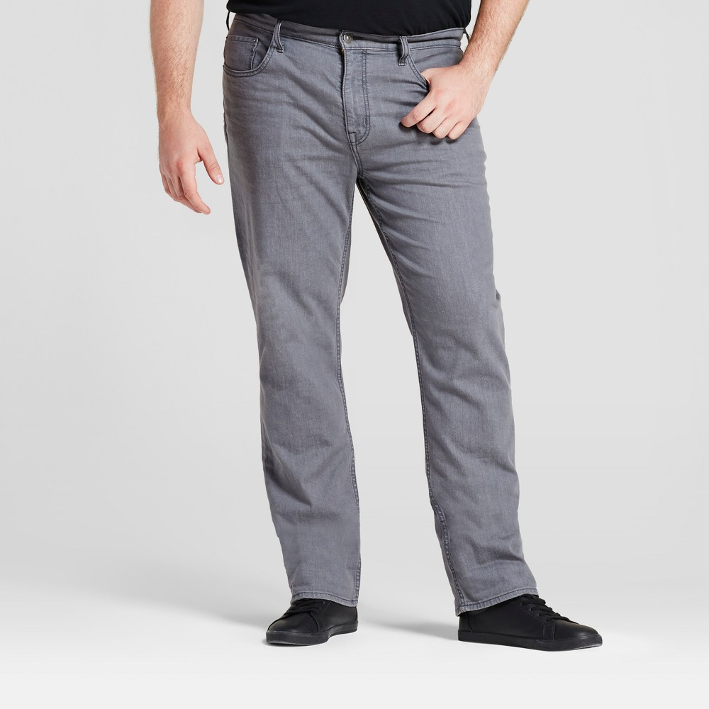 Mens Big & Tall Slim Straight Fit Jeans - Goodfellow & Co Gray 44x34