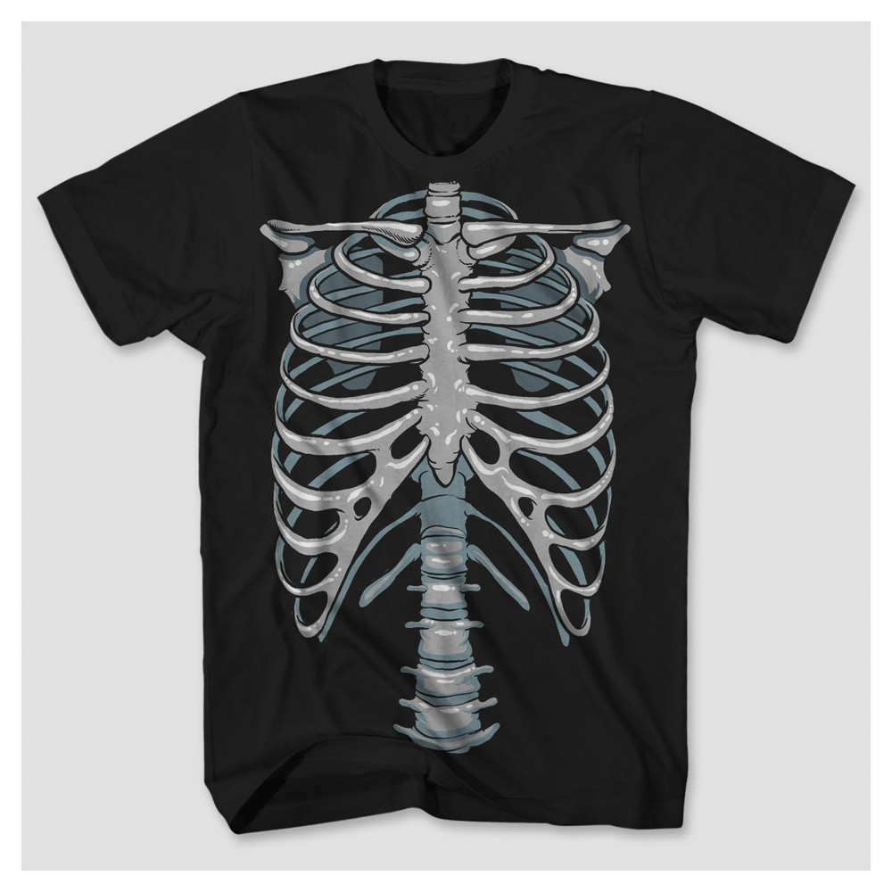 Mens Glow-in-the-Dark Skeleton Big & Tall Graphic T-Shirt - Black 5XLT, Size: 5XL T