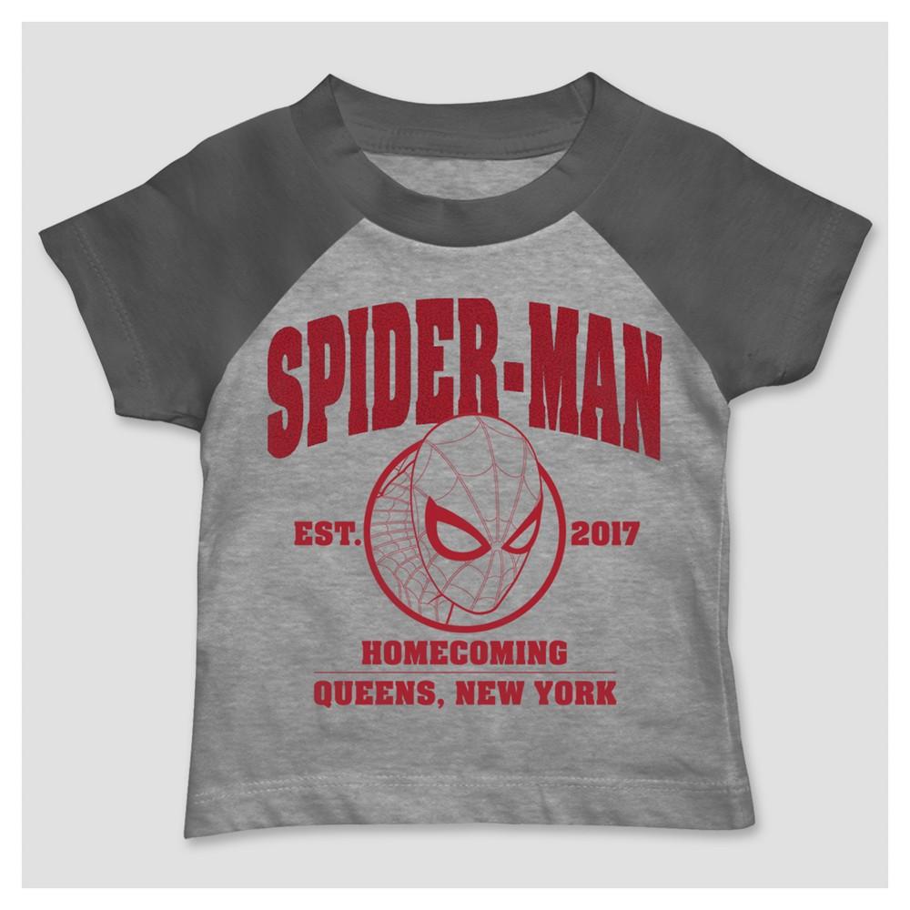 Marvel Toddler Boys' Spider-Man T-Shirt - Heather Gray 12M