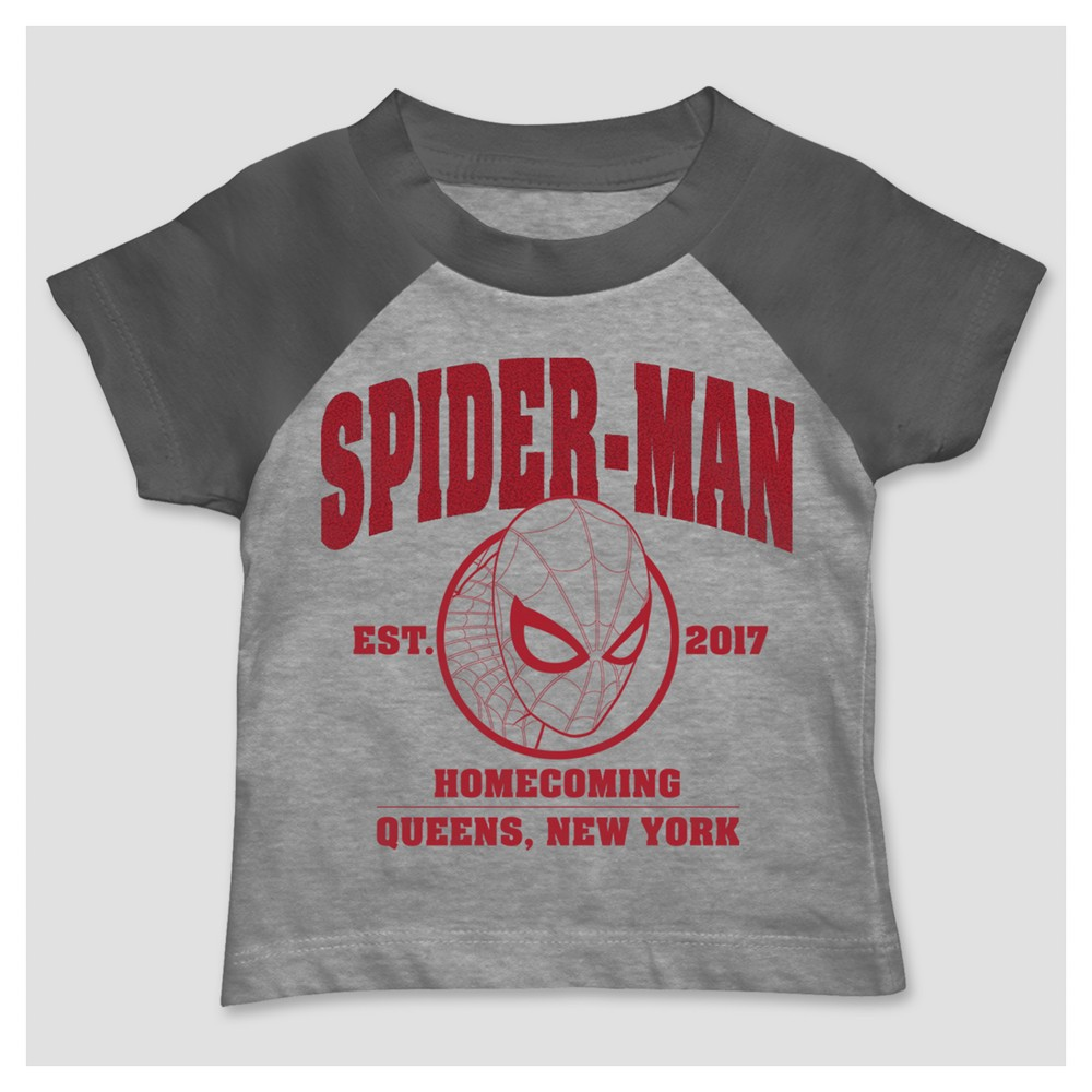 Marvel Toddler Boys' Spider-Man T-Shirt - Heather Gray 2T