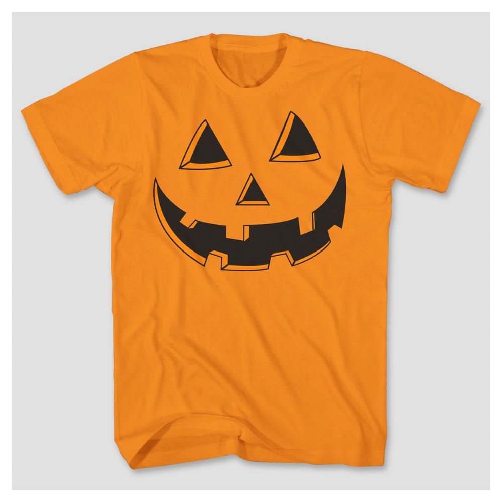 Mens Pumpkin Face Big & Tall Graphic T-Shirt - Orange 4XL