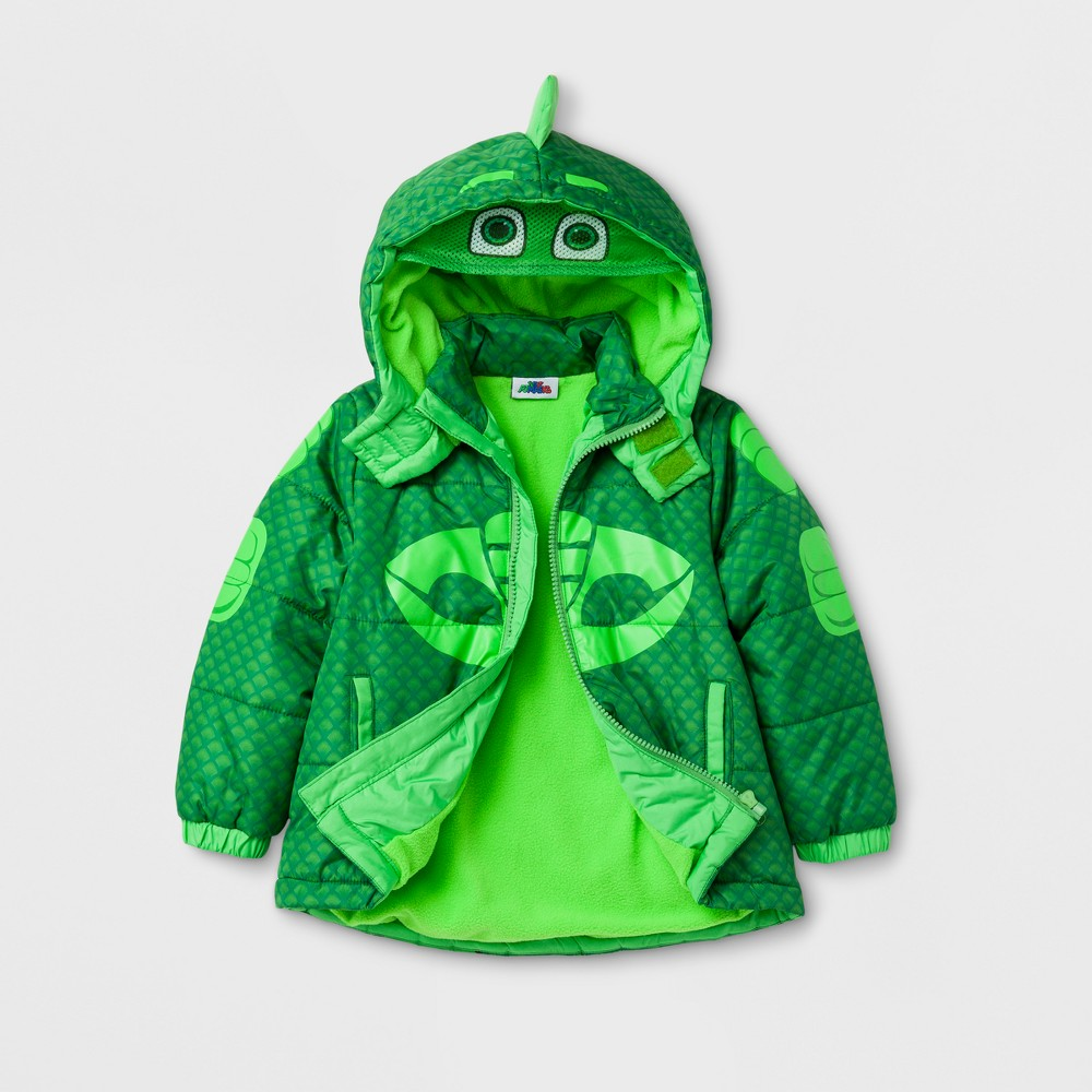 Toddler Boys PJ Masks Puffer Jacket - Green 4T