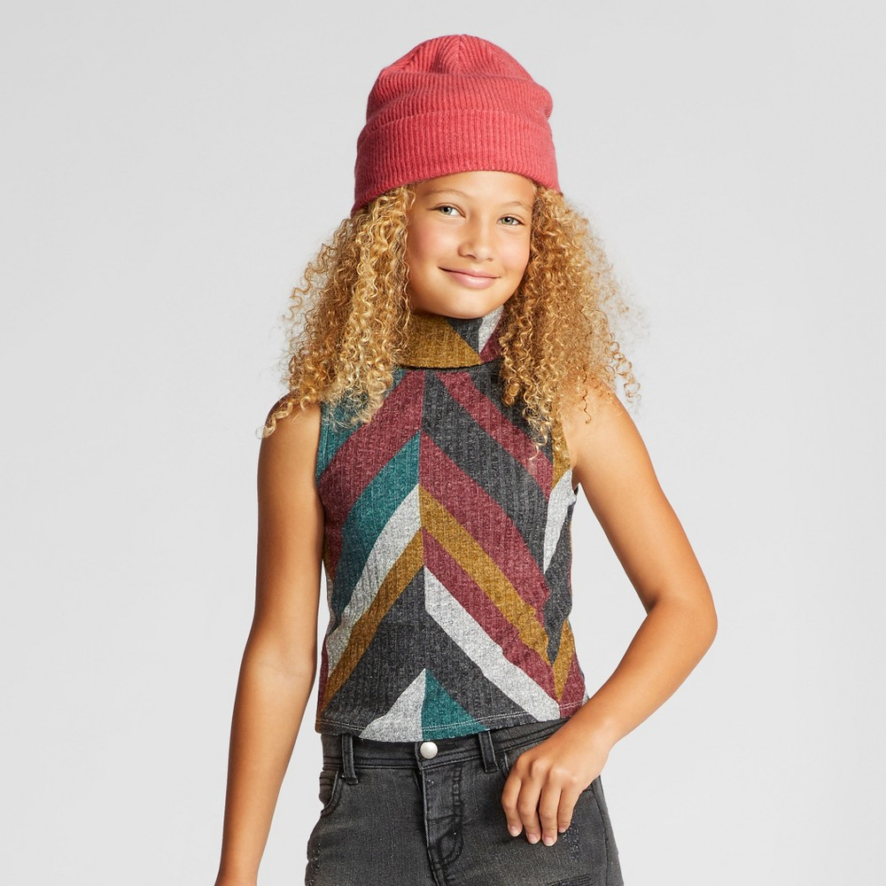 Girls Mock Neck Tank Top - Art Class M, Multicolored
