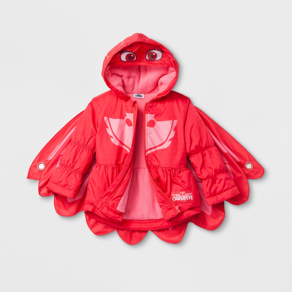 Toddler Boys PJ Masks Puffer Jacket - Red 5T