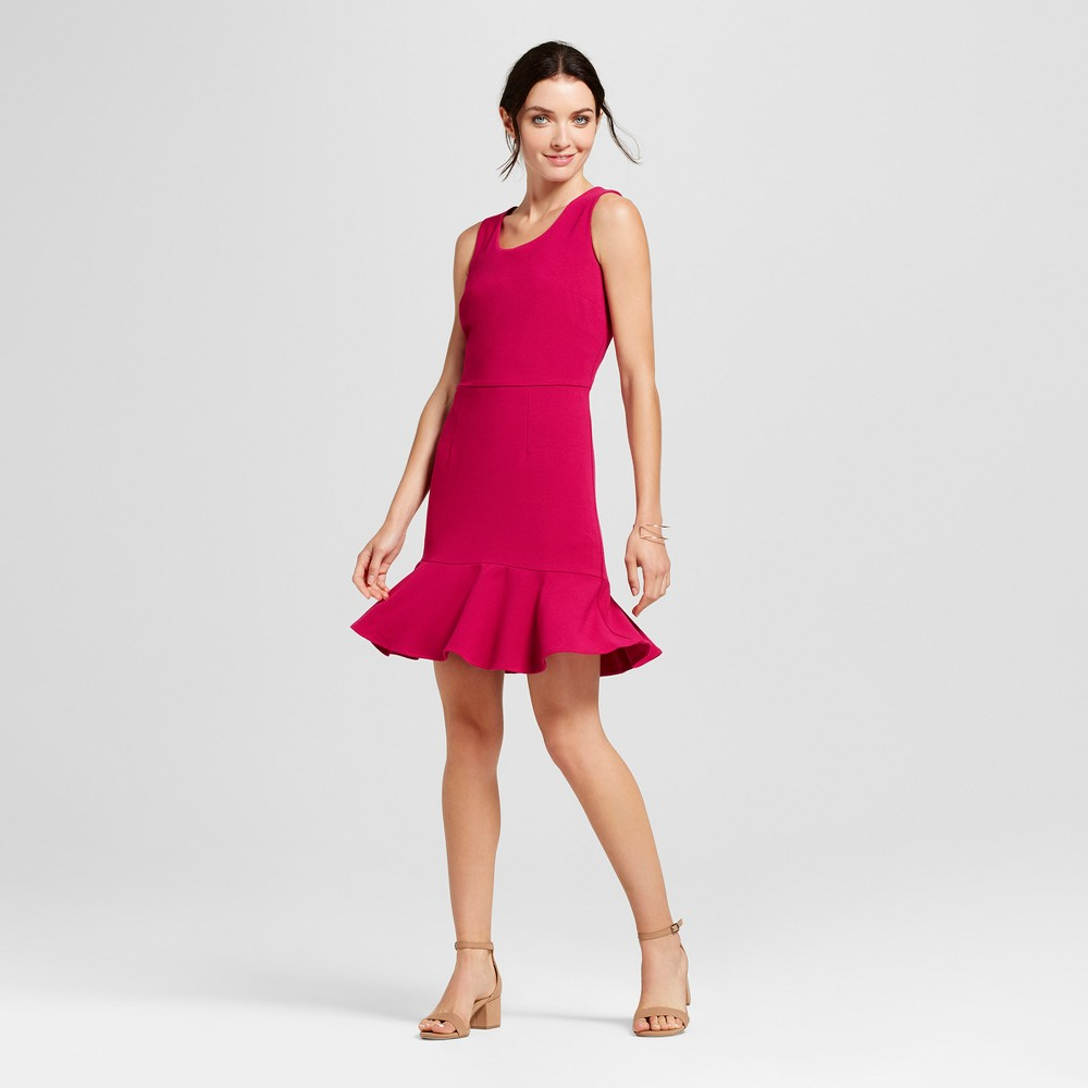 Womens Crepe A Line Dress - A New Day Magenta (Pink) 12