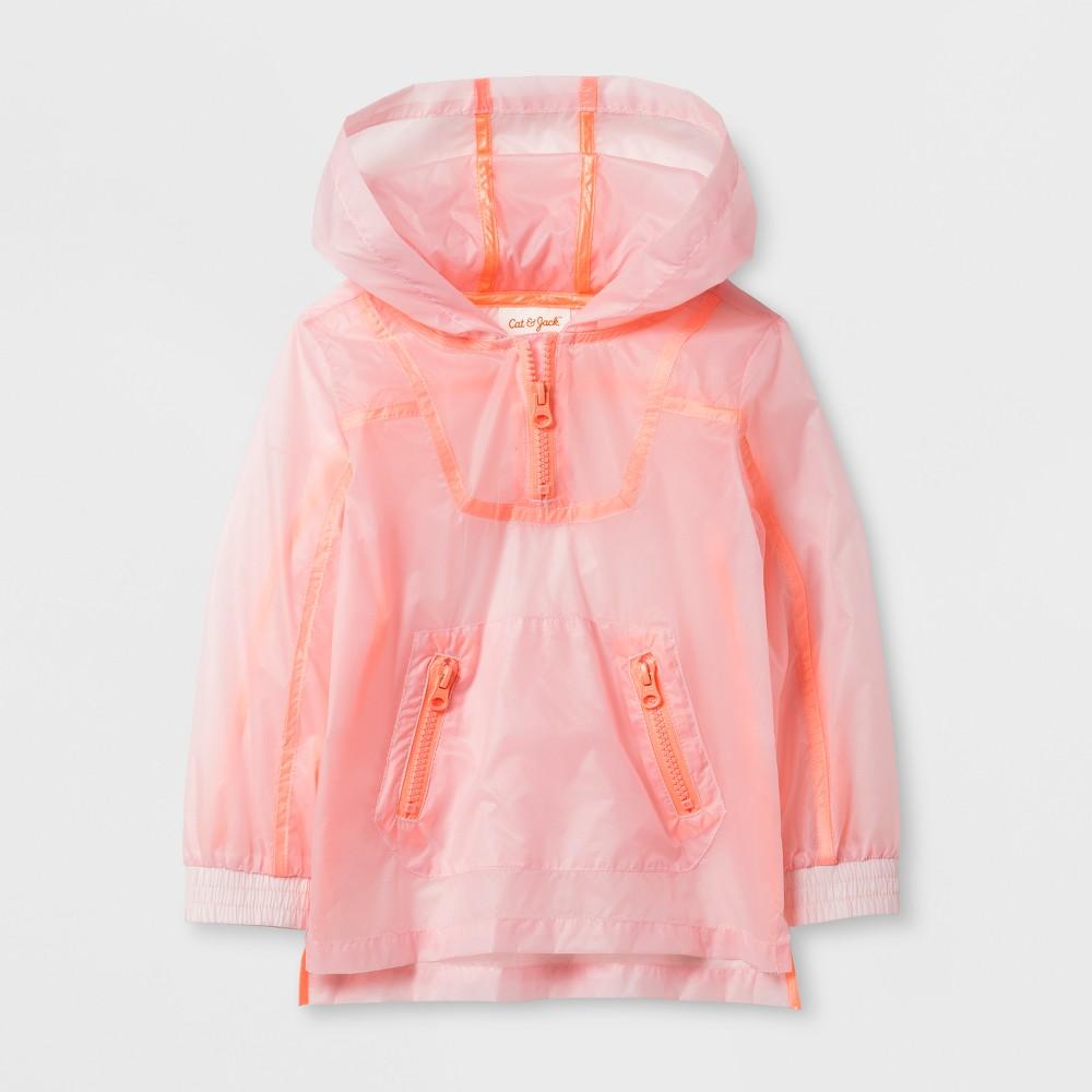 Toddler Girls' Activewear Shell Jacket - Cat & Jack Pink 18M, Size: 18 M