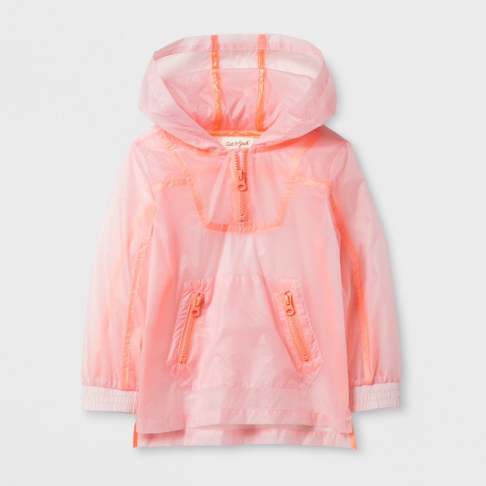 Toddler Girls Activewear Shell Jacket - Cat & Jack Pink 18M, Size: 18 M