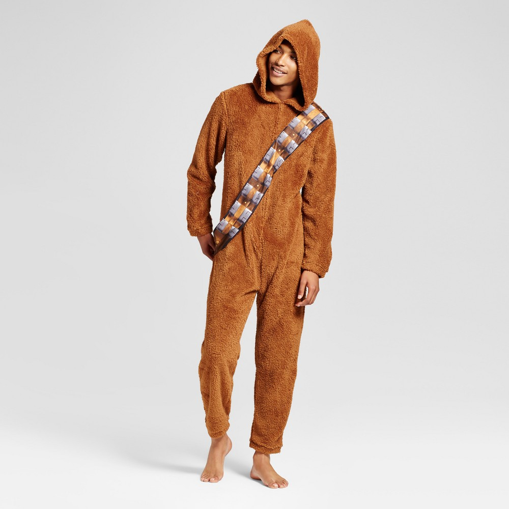 Mens Star Wars Chewbacca Union Suit - Brown S