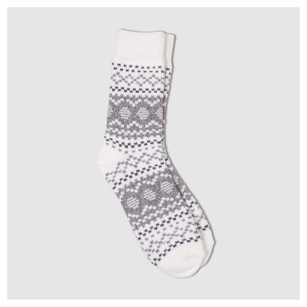 Womens Warm Essentials by Cuddle Duds Fair Isle Super Soft Crew Socks - Ivory One Size