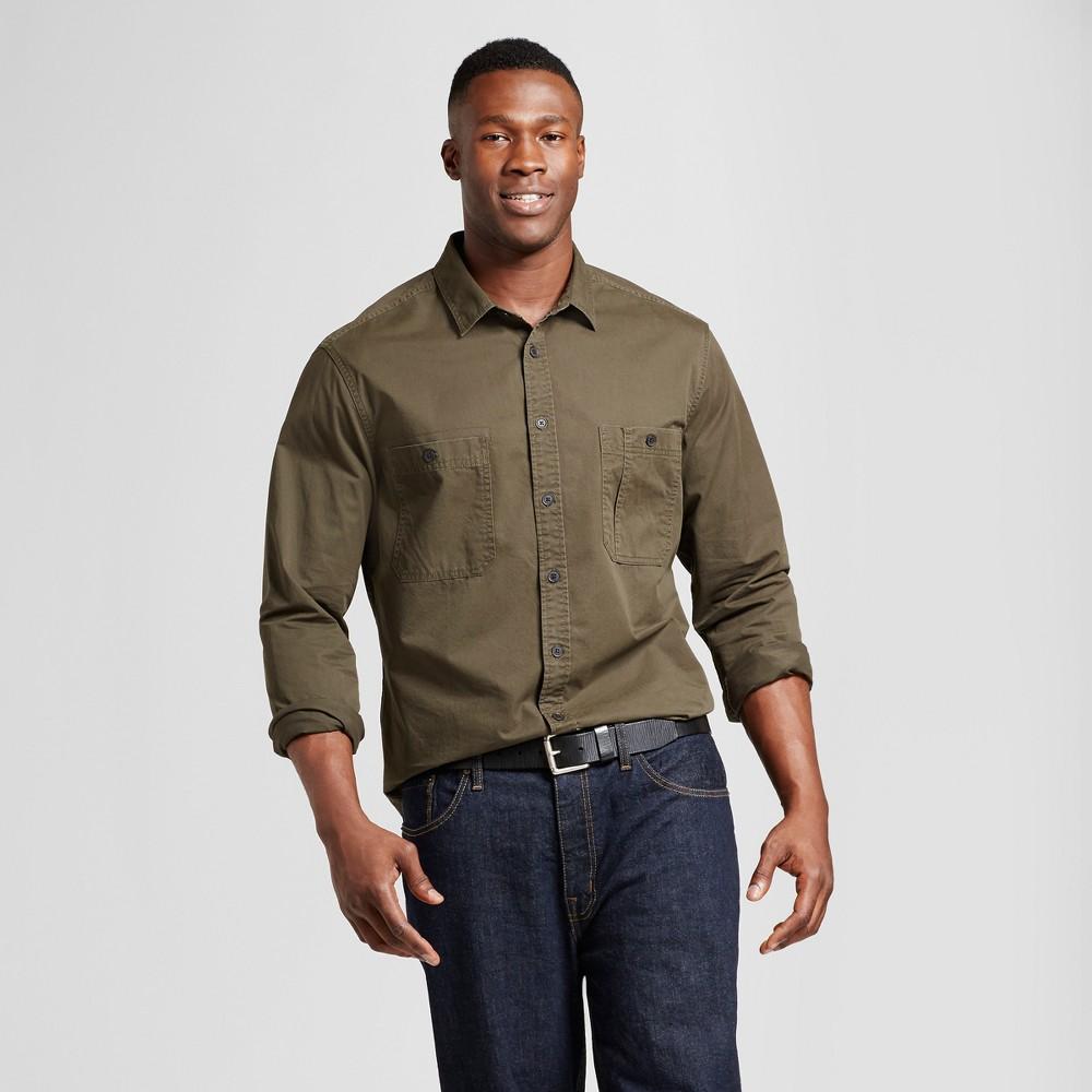 Mens Big & Tall Standard Fit Military Shirt - Goodfellow & Co Green 5XBT