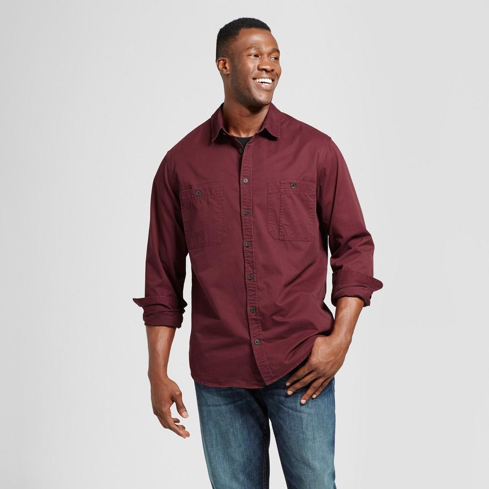 Mens Big & Tall Standard Fit Military Shirt - Goodfellow & Co Burgundy (Red) 4XB