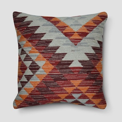 Kilim Wool Throw Pillow (18 )- Red - Threshold™