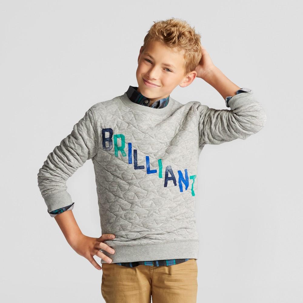 Boys Brilliant Crew Sweatshirt - Cat & Jack Gray XS