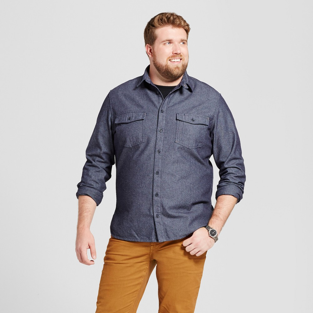 Mens Big & Tall Slim Fit Button Down Work Shirt - Goodfellow & Co Blue 4XB