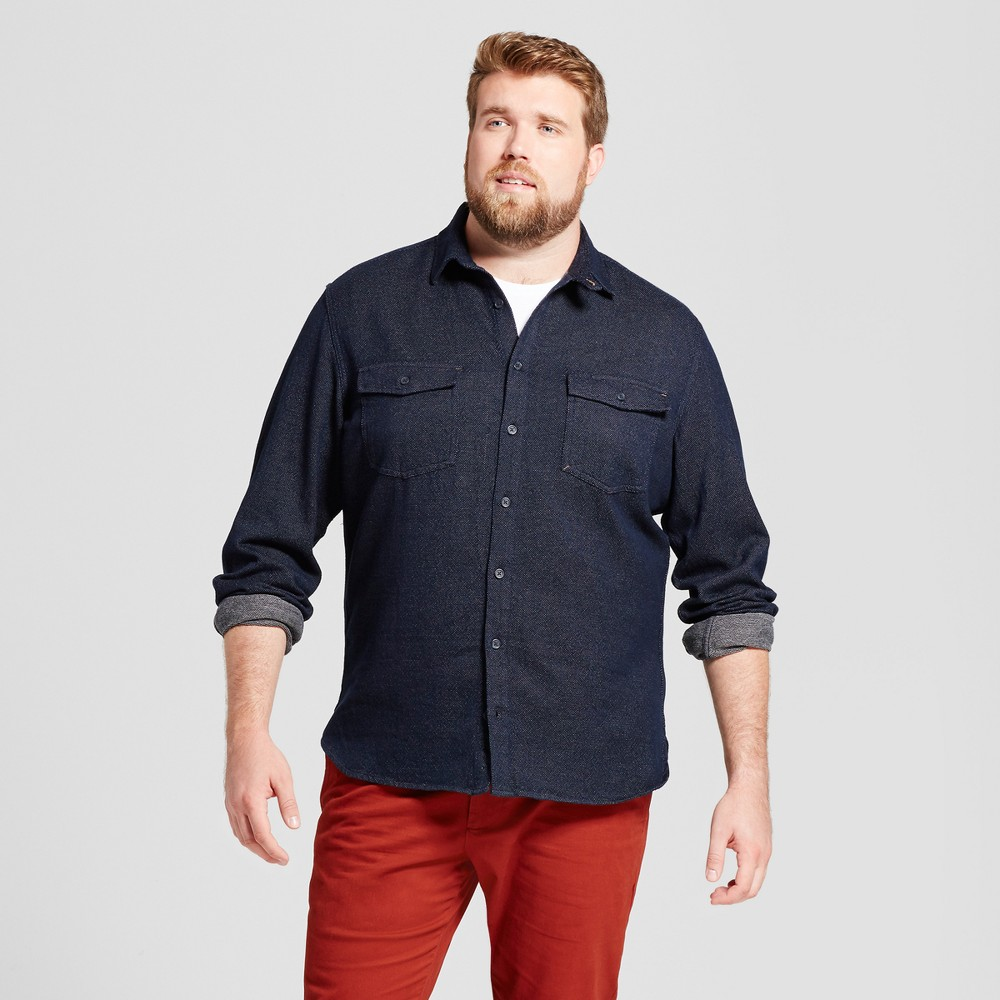 Mens Big & Tall Slim Fit Button Down Work Shirt - Goodfellow & Co Navy (Blue) 4XB