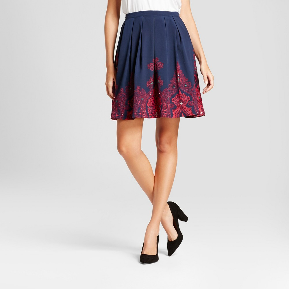 Womens Paisley Border Printed Skirt - Isani for Target Blue/Magenta S