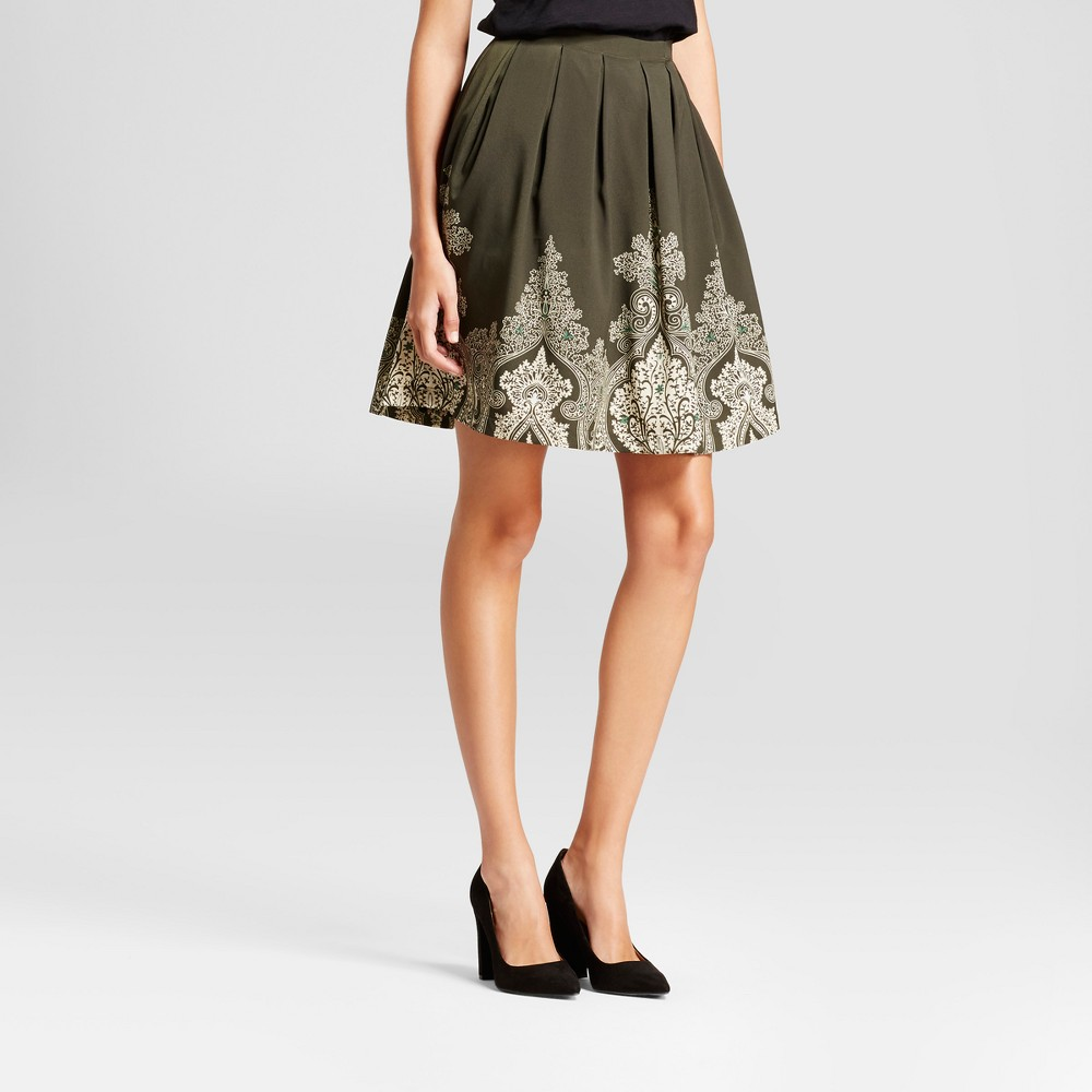 Womens Paisley Border Printed Skirt - Isani for Target Green/Ivory XS, White