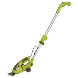 Sun Joe® 2-in-1, 7.2 Volts Cordless Grass Shear Hedge Trimmer With Extension Pole - Green