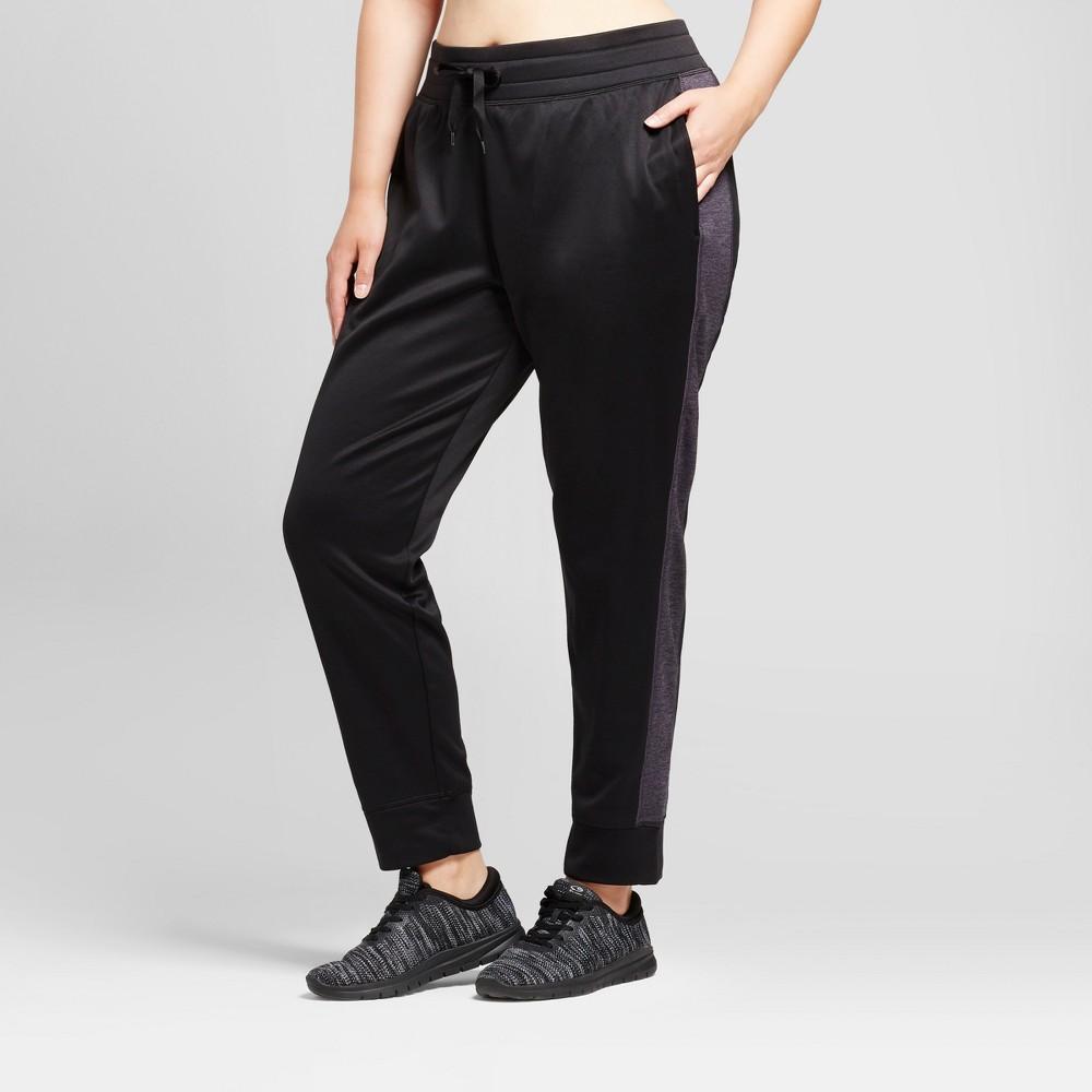 Womens Plus-Size Tech Fleece Jogger Pants - C9 Champion Black 4X