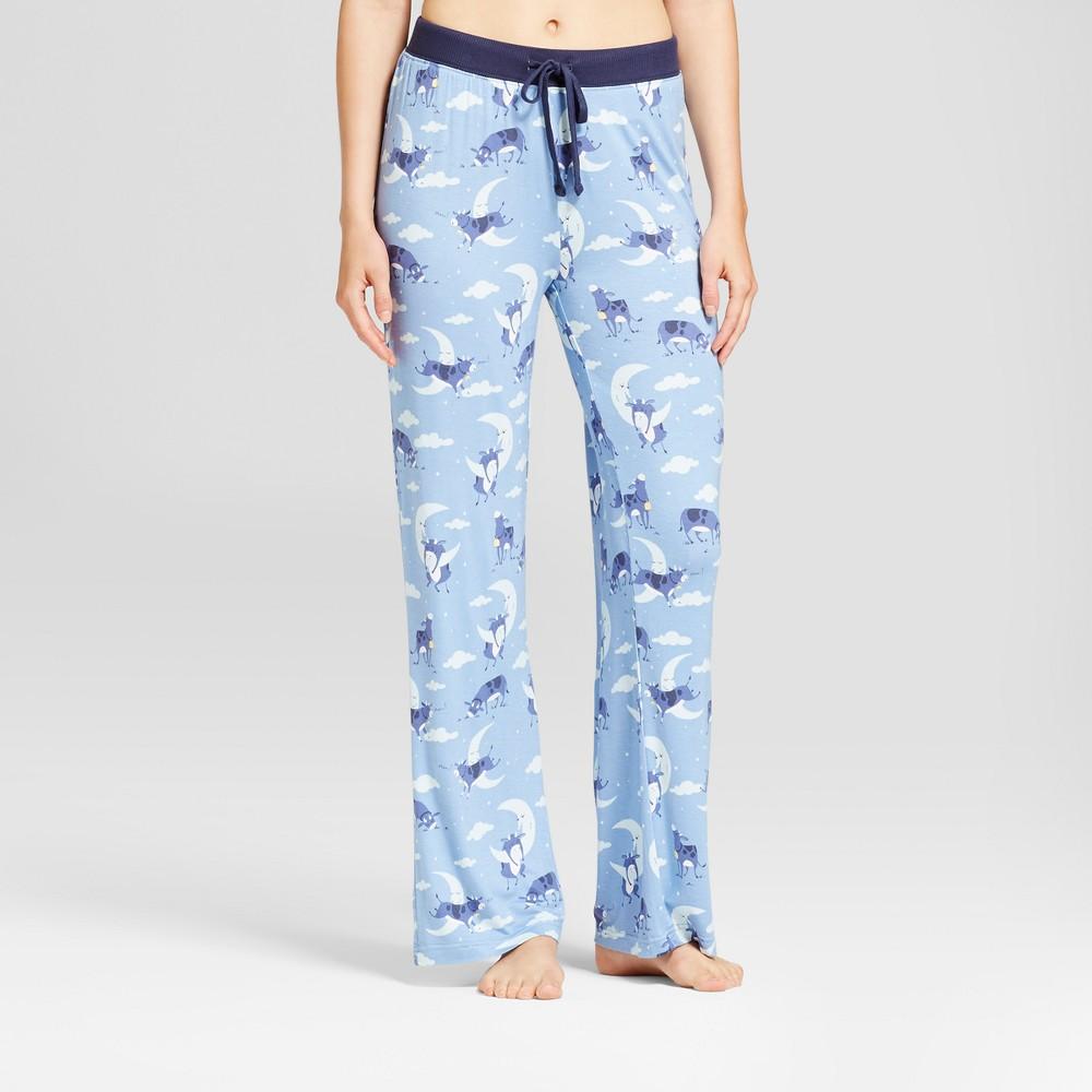 Womens Nite Nite By Munki Munki Jump Over The Moon Pajama Pants - Blue XS