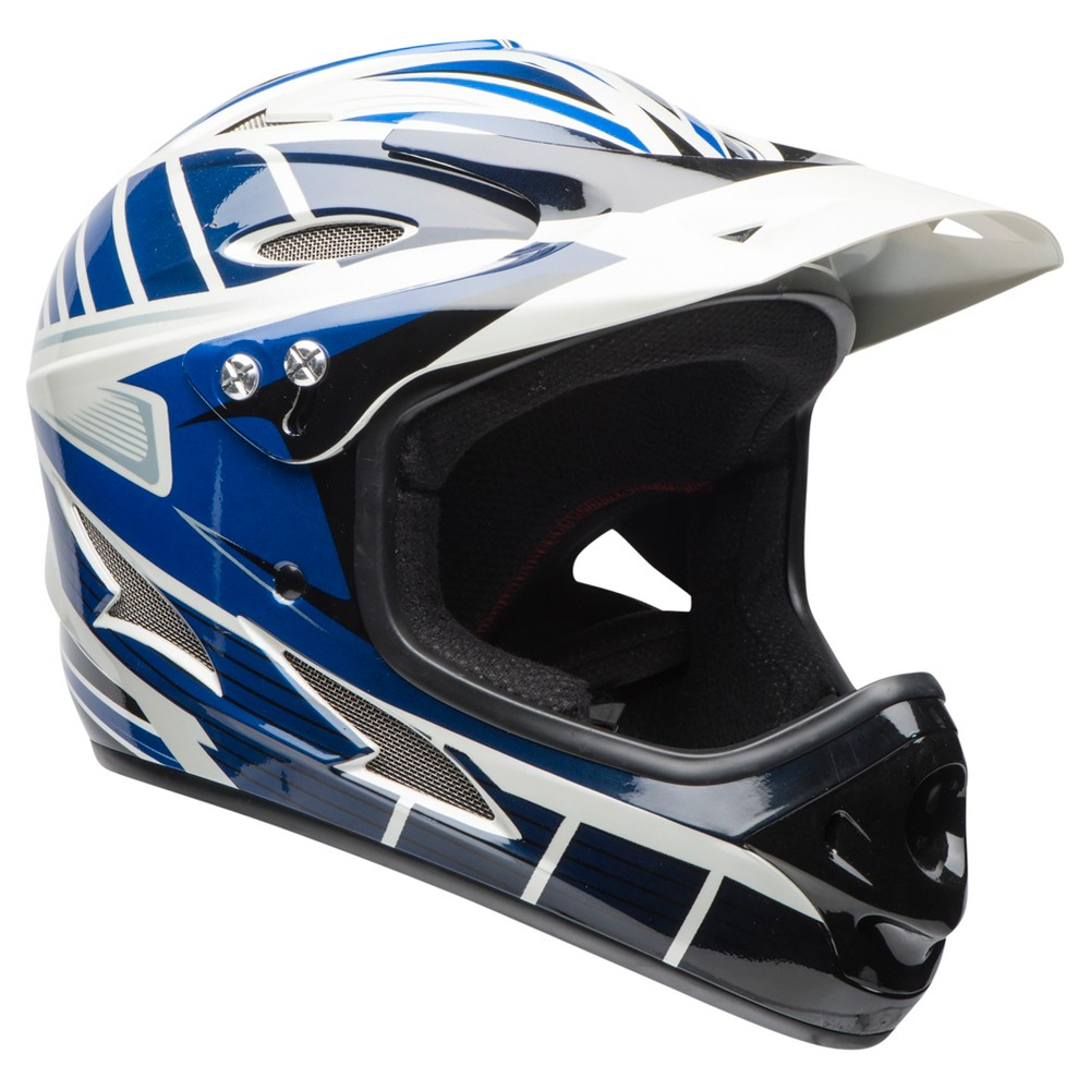 Bell Exodus Full Face Youth Helmet - Blue/Black, Black/White