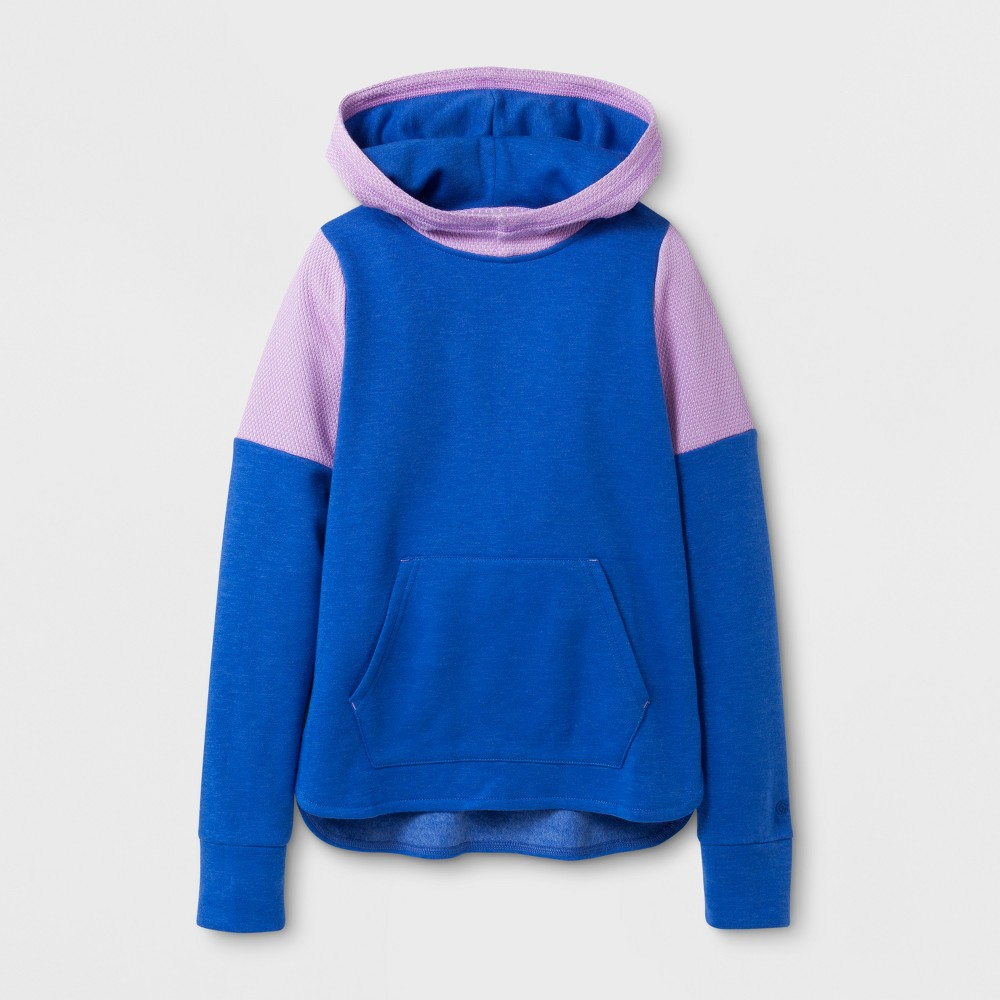 Girls Cotton Fleece Pullover Hoodie - C9 Champion - Steel Blue Heather XL, Heather Blue