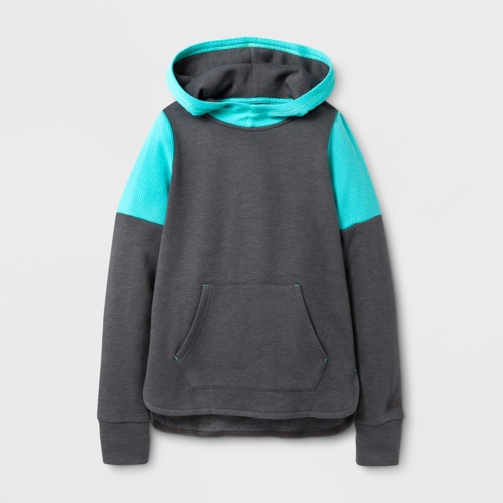 Girls Cotton Fleece Pullover Hoodie - C9 Champion - Railroad Gray Heather XS, Heather Gray