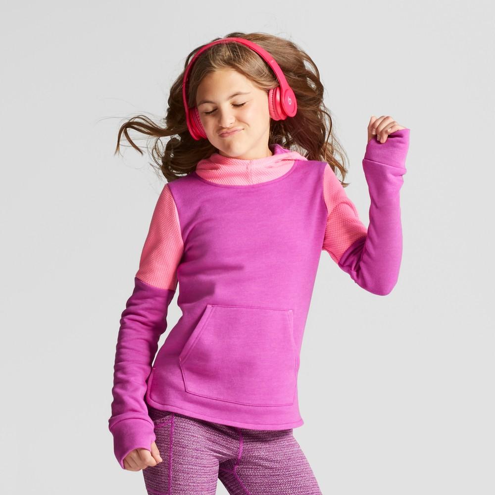 Girls Cotton Fleece Pullover Hoodie - C9 Champion - Purple Reef Heather L, Purple Heather