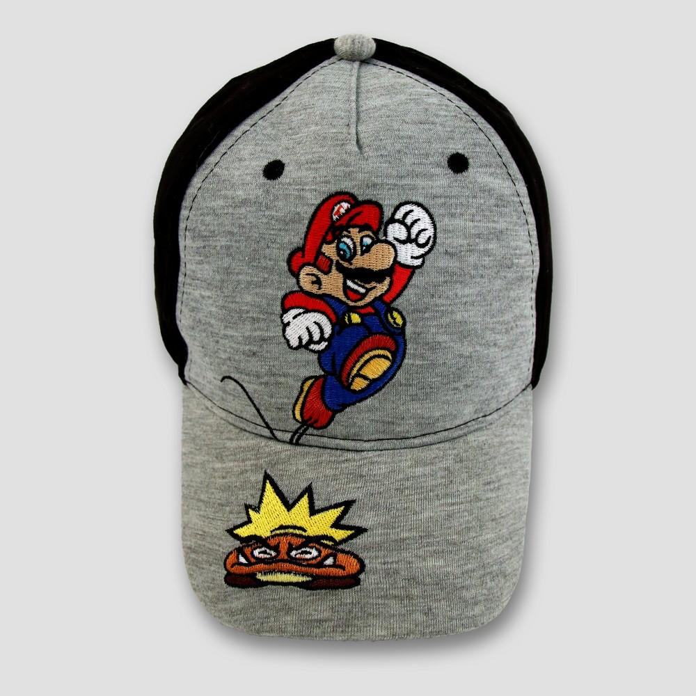 Boys Nintendo Mario Hat - Gray