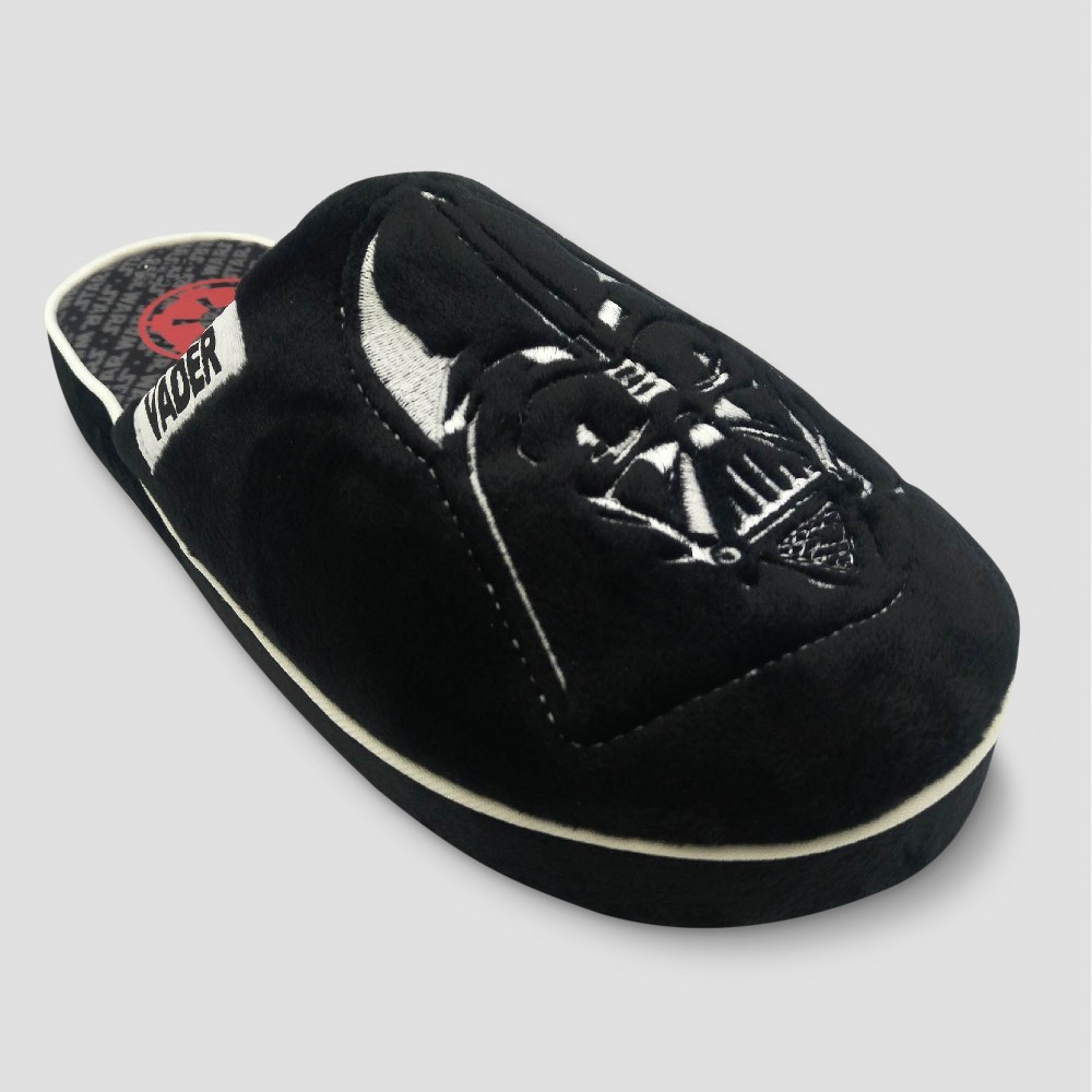 Mens Star Wars Darth Vader Scuff Slippers - Black M(9-10), Size: M (9-10)