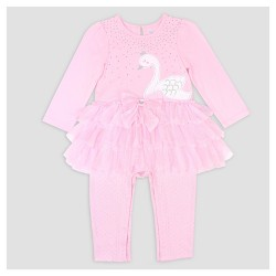 Baby Grand Signature Baby Girls' Swan Tutu Dress and Leggings Set - Pink