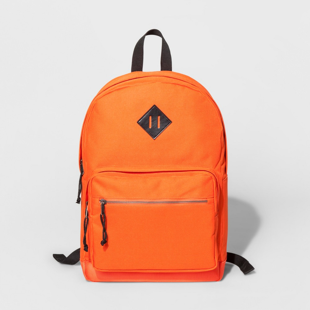 Mens Nylon Dome Backpack - Goodfellow & Co - Orange One Size