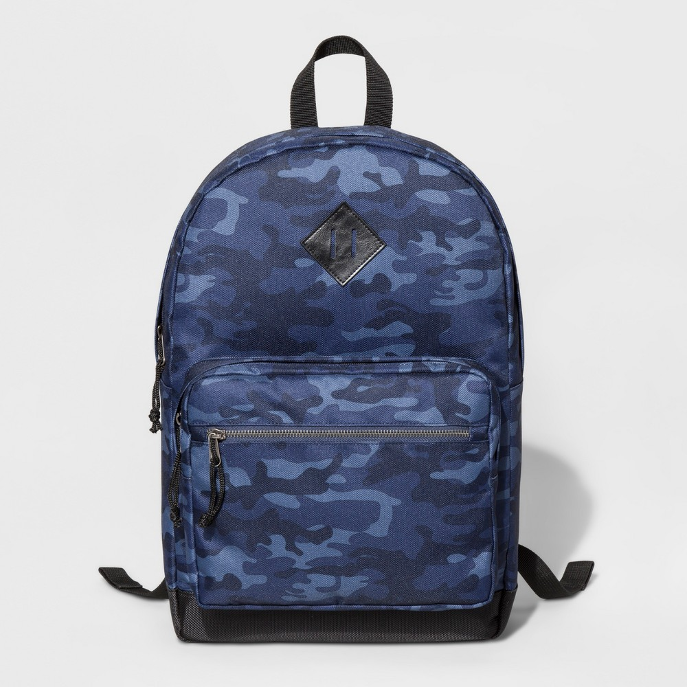 Mens Nylon Dome Backpack - Goodfellow & Co - Blue Camo One Size, Blue Camoflage