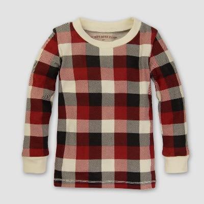 Burt's Bees Baby Organic Cotton 2pc Buffalo Plaid Pajama Set - Cranberry 12M