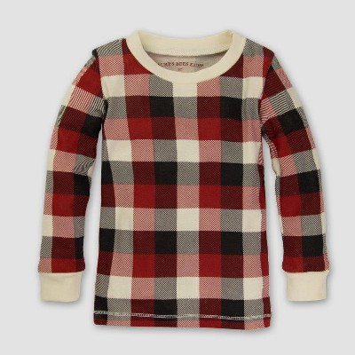 Burt's Bees Baby Organic Cotton 2pc Buffalo Plaid Pajama Set - Cranberry 6-9M