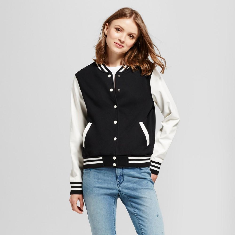 Womens Varsity Jacket - Mossimo Supply Co. Black and Cream Xxl