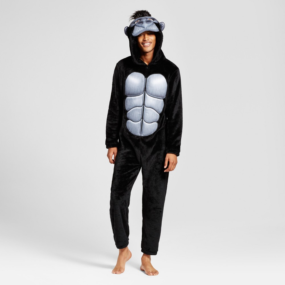 Mens Gorilla Union Suit - Black S
