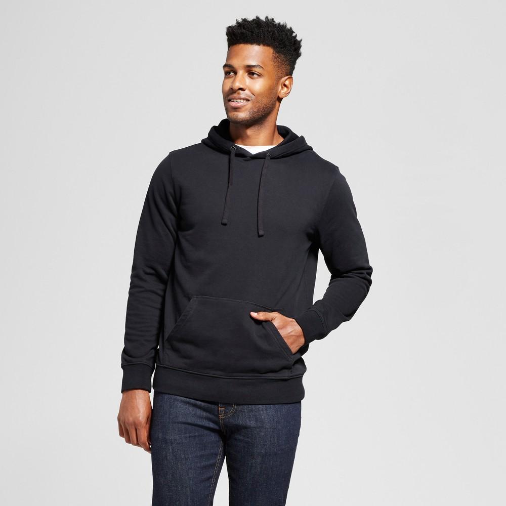 Mens Standard Fit Fleece Pullover Hoodie - Goodfellow & Co Black S