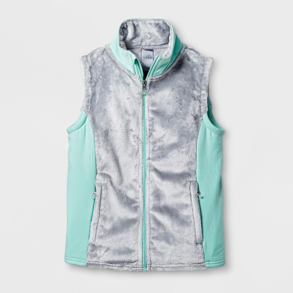 Girls Heavenly Fleece Vest - C9 Champion Gray S, Gray Morn