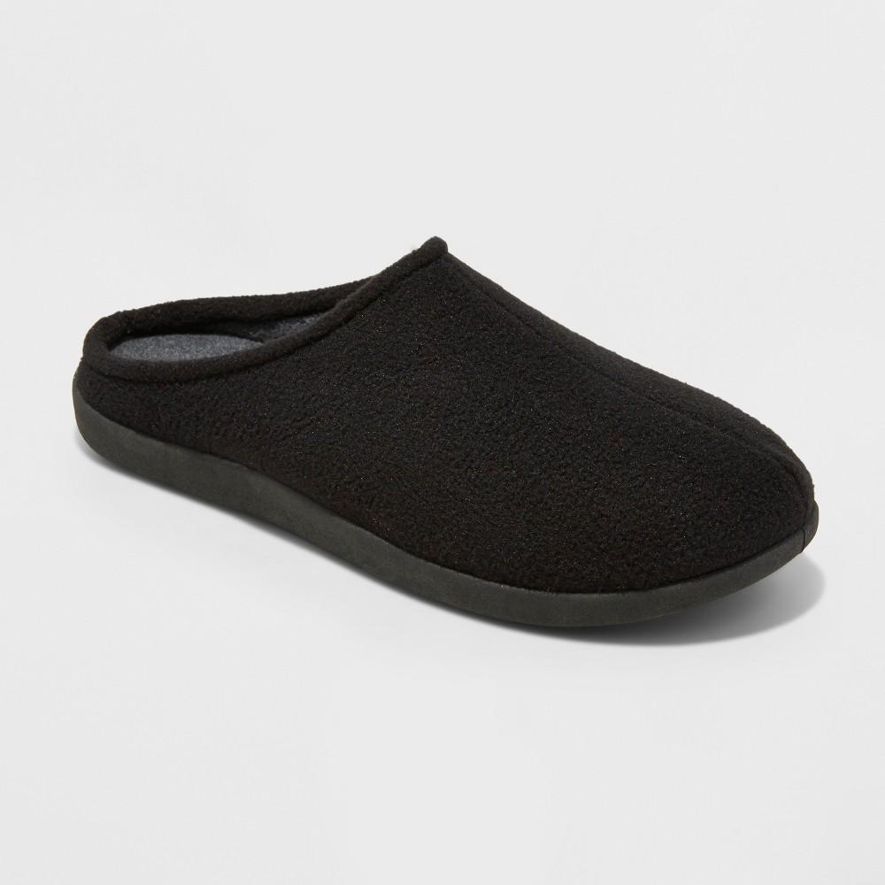 Mens Dedrick Fleece Clog Slippers - Goodfellow & Co Black M(9-10), Size: M (9-10)