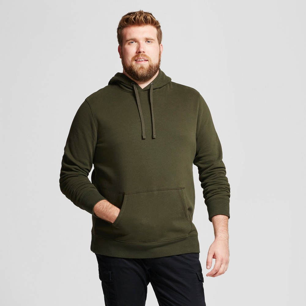 Mens Big & Tall Standard Fit Fleece Pullover Hoodie - Goodfellow & Co Green 2XBT