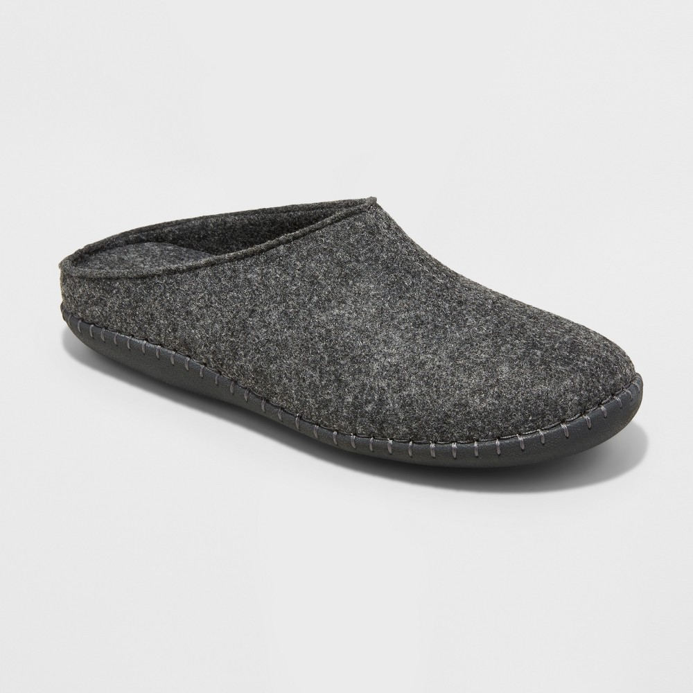 Mens Jennings Felted Wool Clog Slippers - Goodfellow & Co Gray 7