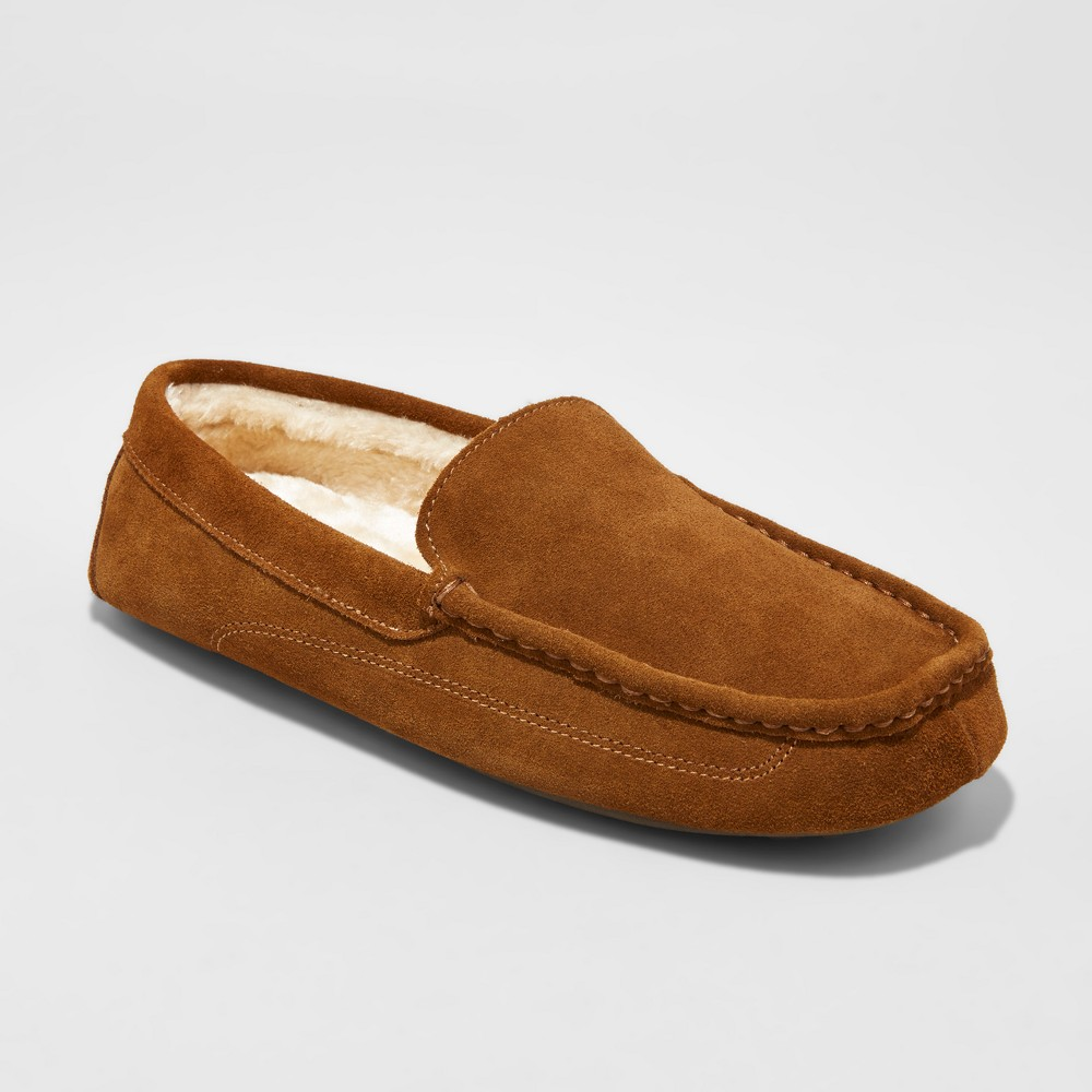 Mens Carlo Suede Driving Slippers - Goodfellow & Co Walnut (Brown) 7