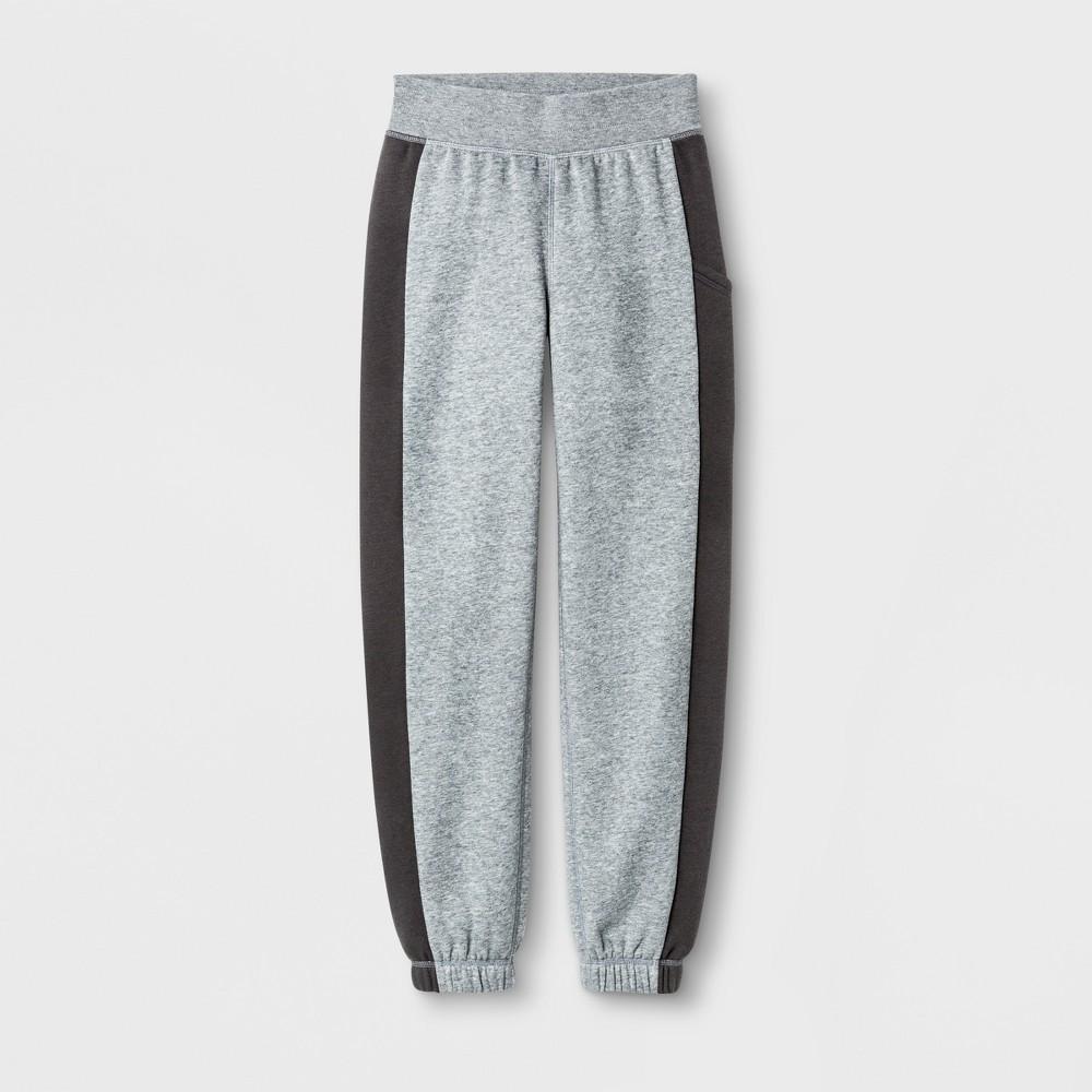 Girls' Cotton Fleece Banded Bottom - C9 Champion - Black Heather XL, Gray