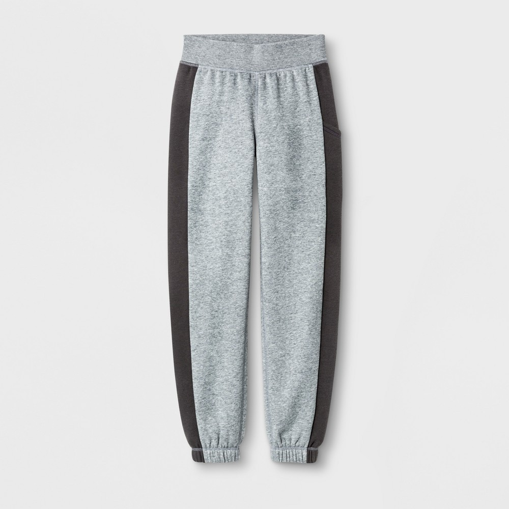 Plus Size Girls' Plus Cotton Fleece Banded Bottom - C9 Champion - Black Heather XL Plus, Heather Grey
