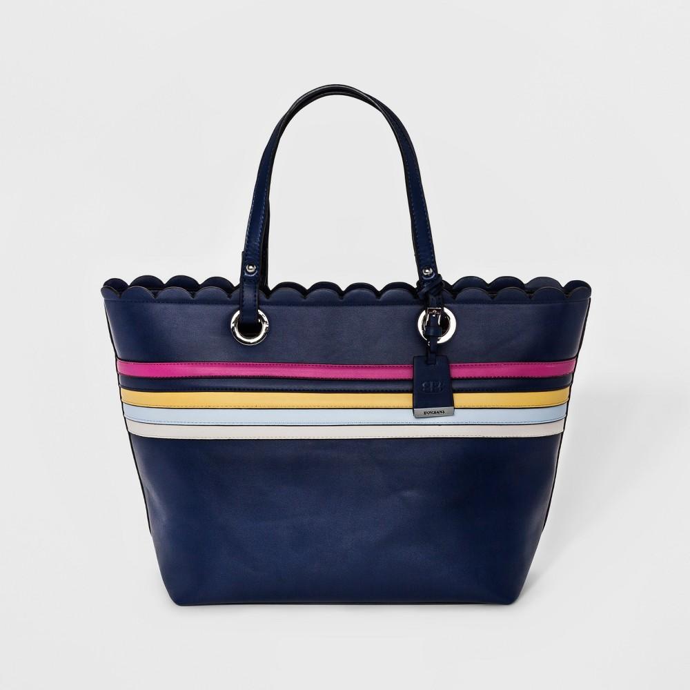 Borsani Womens Marlow Tote Handbag - Navy (Blue)
