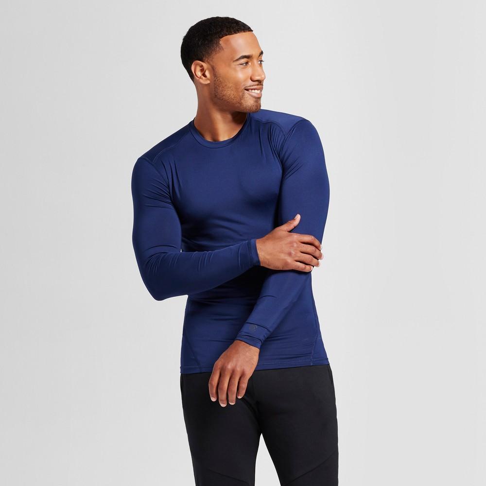 Mens Power Core Compression Long Sleeve Shirt - C9 Champion Dark Night Blue Xxl