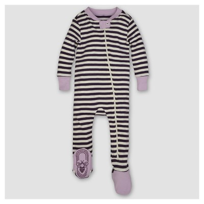 Burt's Bees Baby® Girls' Organic Mini Stripe Sleeper - Purple NB
